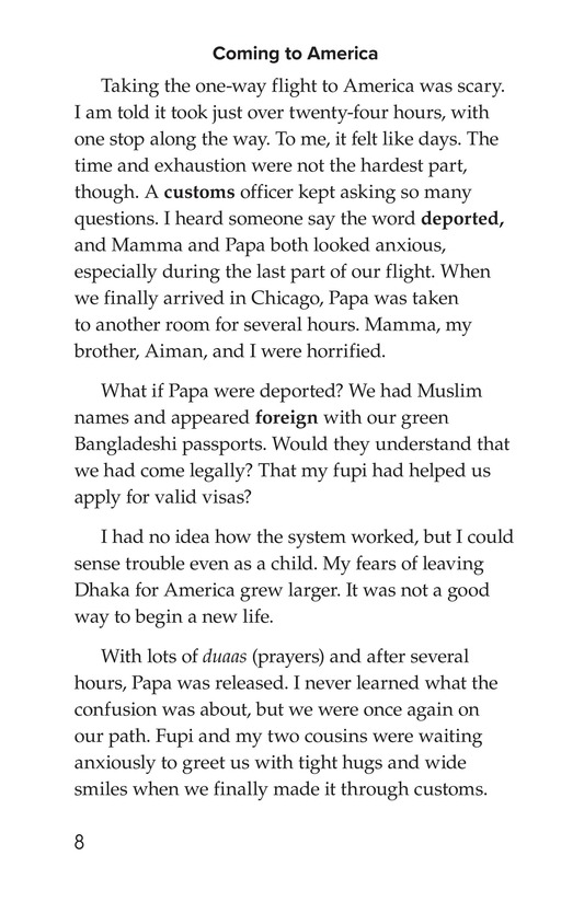 Book Preview For Leaving Bangladesh for the United States Page 8