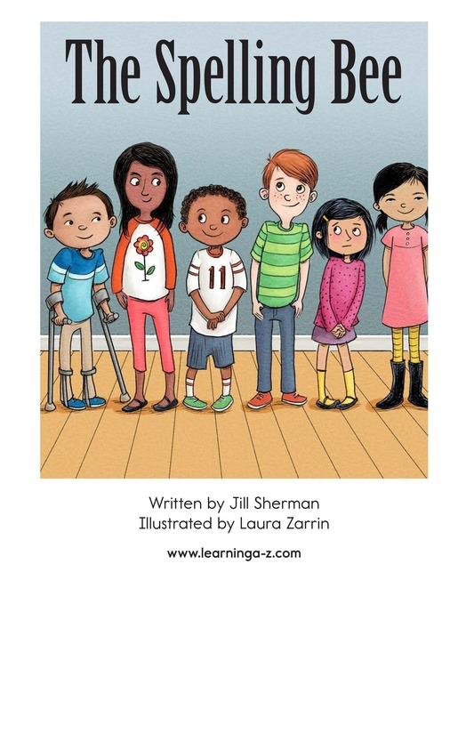 Book Preview For The Spelling Bee Page 1