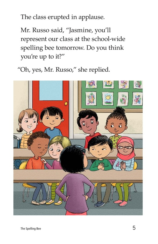 Book Preview For The Spelling Bee Page 5