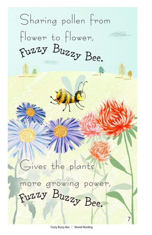 Book Preview For Fuzzy Buzzy Bee Page 7