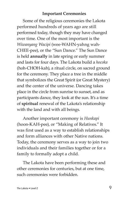 Book Preview For The Lakota Page 9