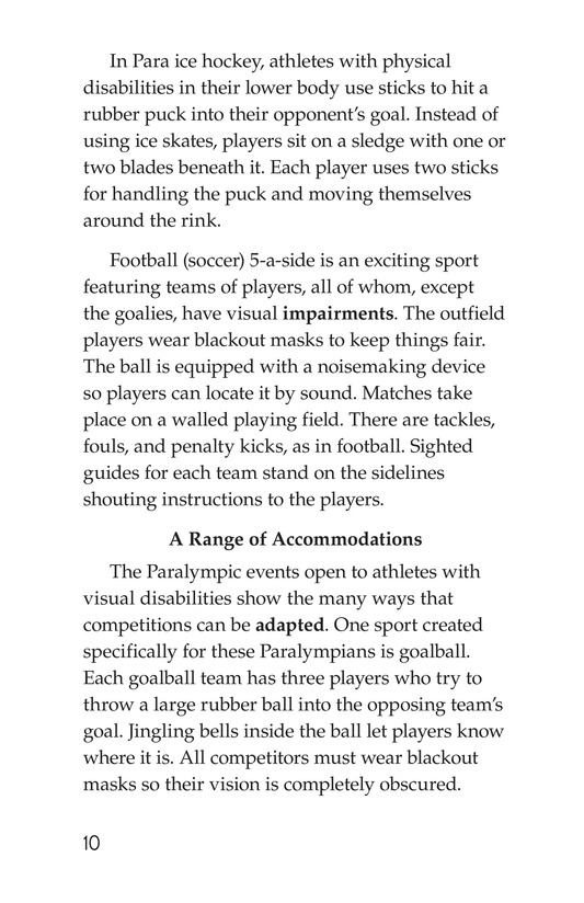 Book Preview For The Paralympics Page 10