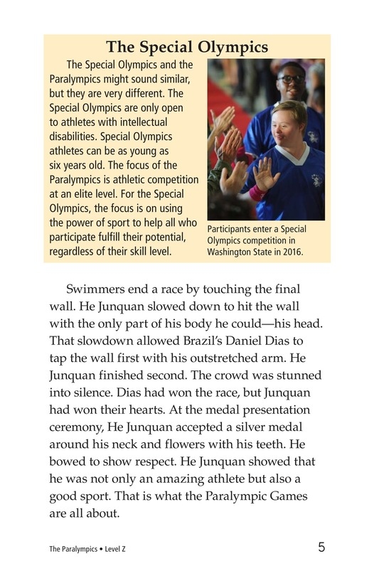 Book Preview For The Paralympics Page 5