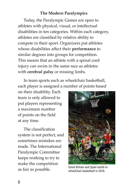 Book Preview For The Paralympics Page 8