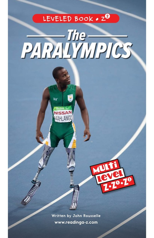 Book Preview For The Paralympics Page 0