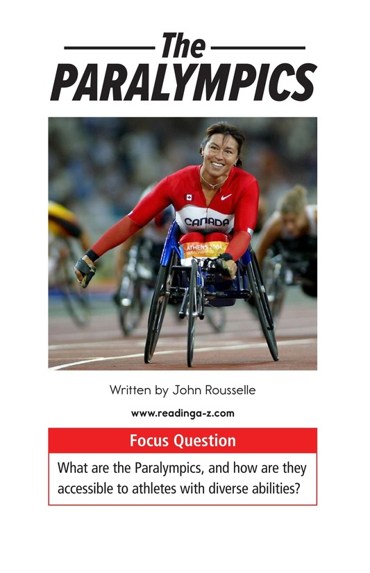 Book Preview For The Paralympics Page 1