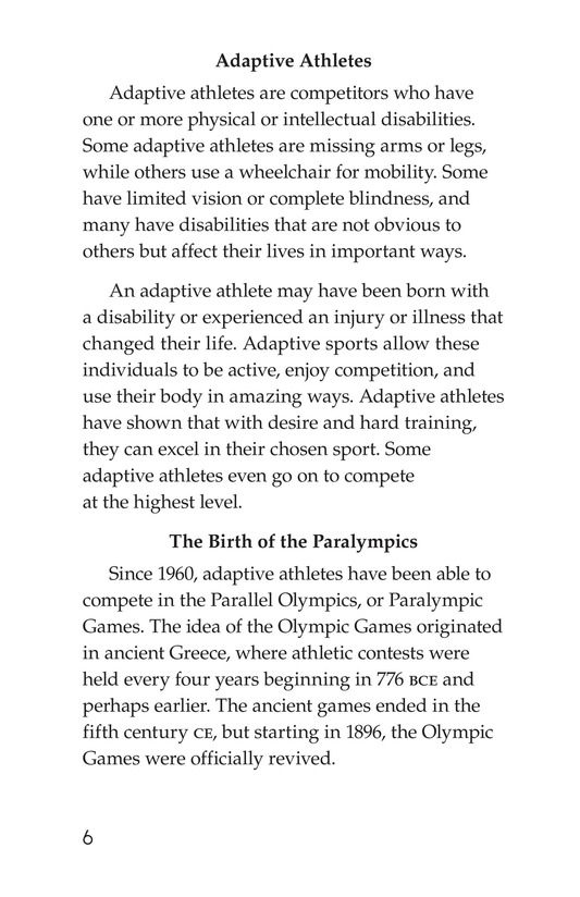 Book Preview For The Paralympics Page 6