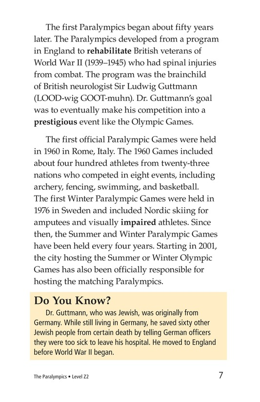 Book Preview For The Paralympics Page 7
