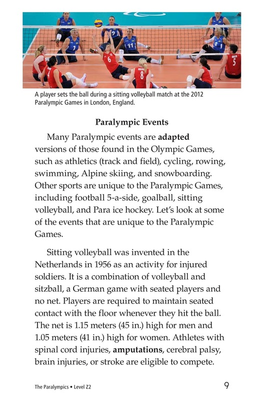 Book Preview For The Paralympics Page 9