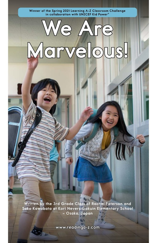 Book Preview For We Are Marvelous Page 1