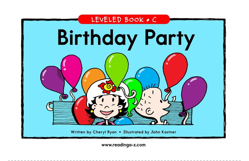 Book Preview For Birthday Party Page 1