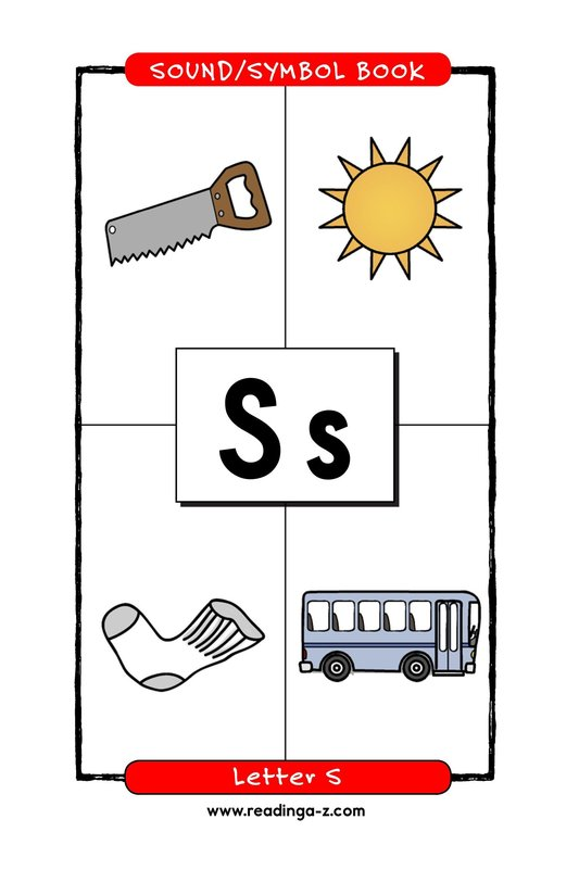 Book Preview For Consonant Letter S Page 1