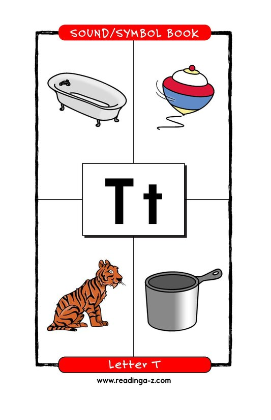 Book Preview For Consonant Letter T Page 1