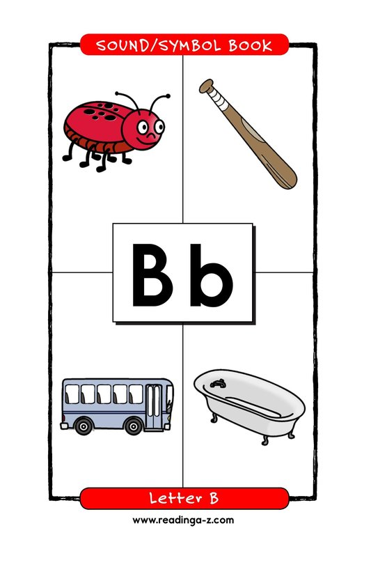 Book Preview For Consonant Letter B Page 1