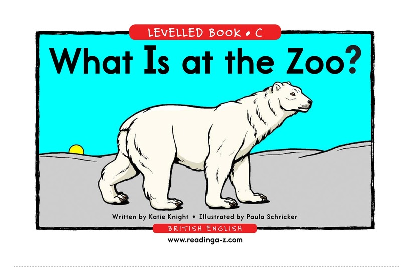 Book Preview For What Is at the Zoo? Page 1