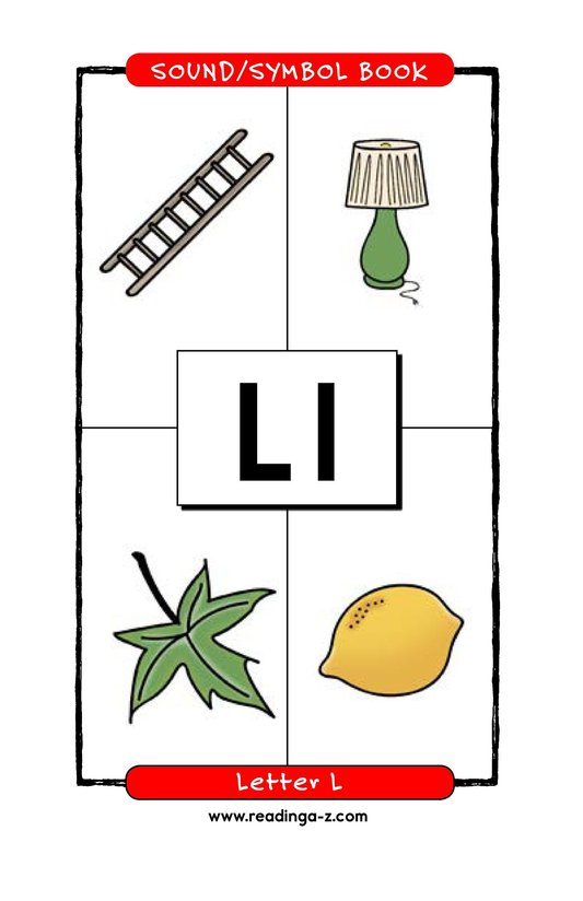 Book Preview For Consonant Letter L Page 1
