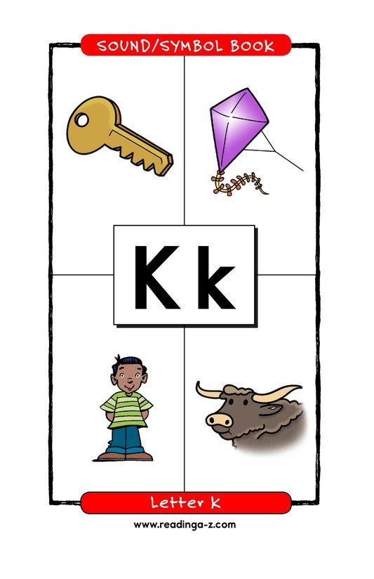 Book Preview For Consonant Letter K Page 1