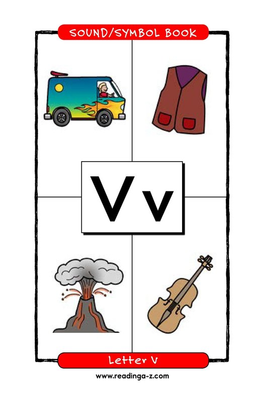 Book Preview For Consonant Letter V Page 1