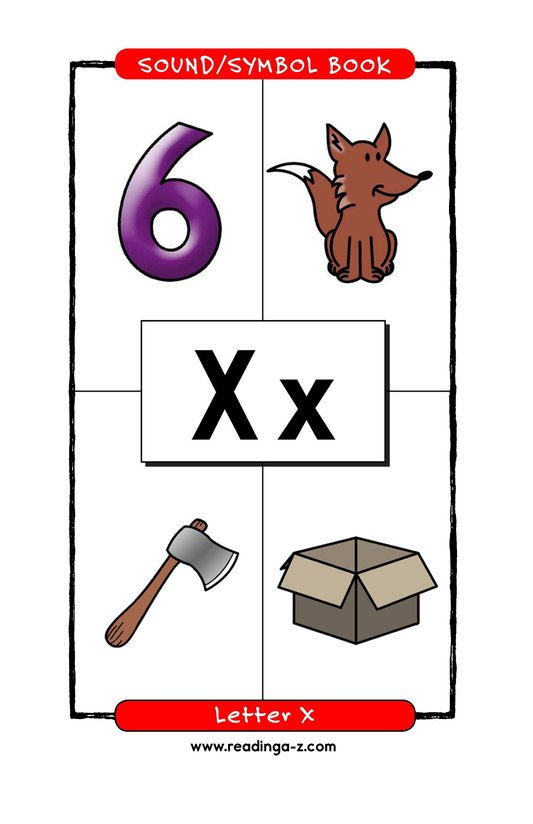 Book Preview For Consonant Letter X Page 1