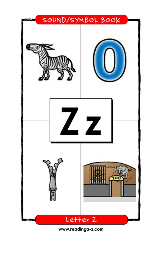 Book Preview For Consonant Letter Z Page 1