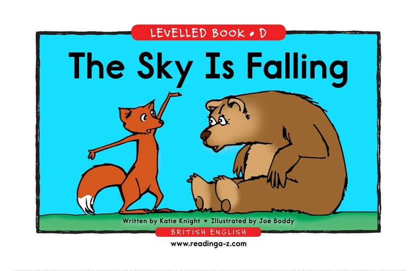 Book Preview For The Sky Is Falling Page 1