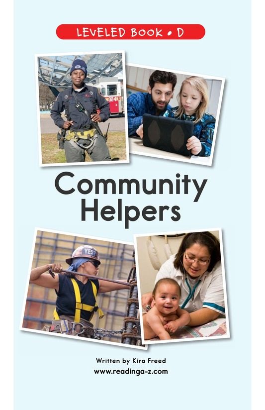 Book Preview For Community Helpers Page 1