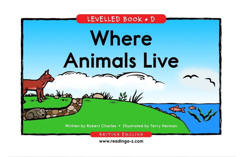 Book Preview For Where Animals Live Page 1