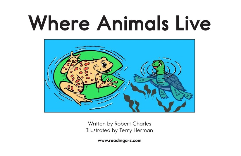 Book Preview For Where Animals Live Page 2