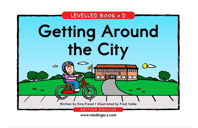 Book Preview For Getting Around the City Page 1