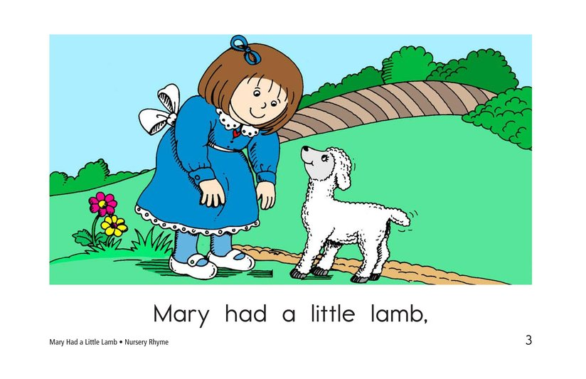 Book Preview For Mary Had a Little Lamb Page 3