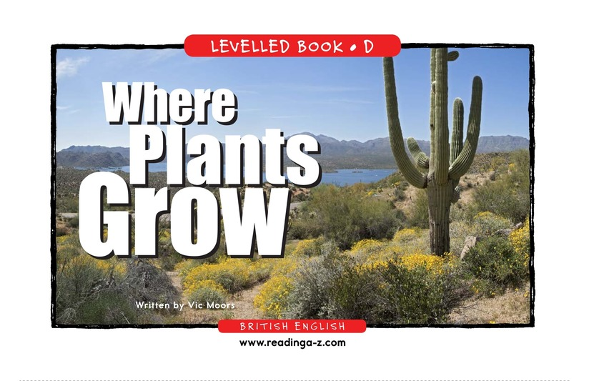 Book Preview For Where Plants Grow Page 1