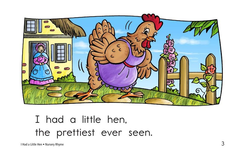 Book Preview For I Had a Little Hen Page 3