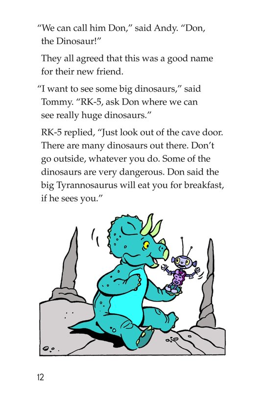Book Preview For Tommy Meets a Dinosaur Page 12