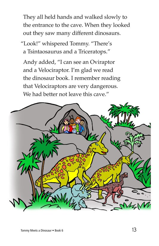 Book Preview For Tommy Meets a Dinosaur Page 13