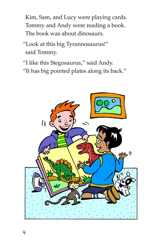 Book Preview For Tommy Meets a Dinosaur Page 4