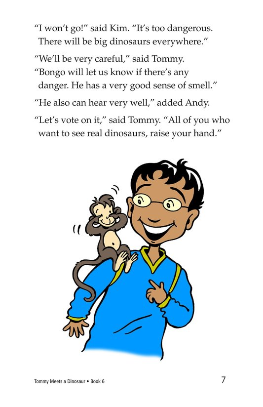 Book Preview For Tommy Meets a Dinosaur Page 7