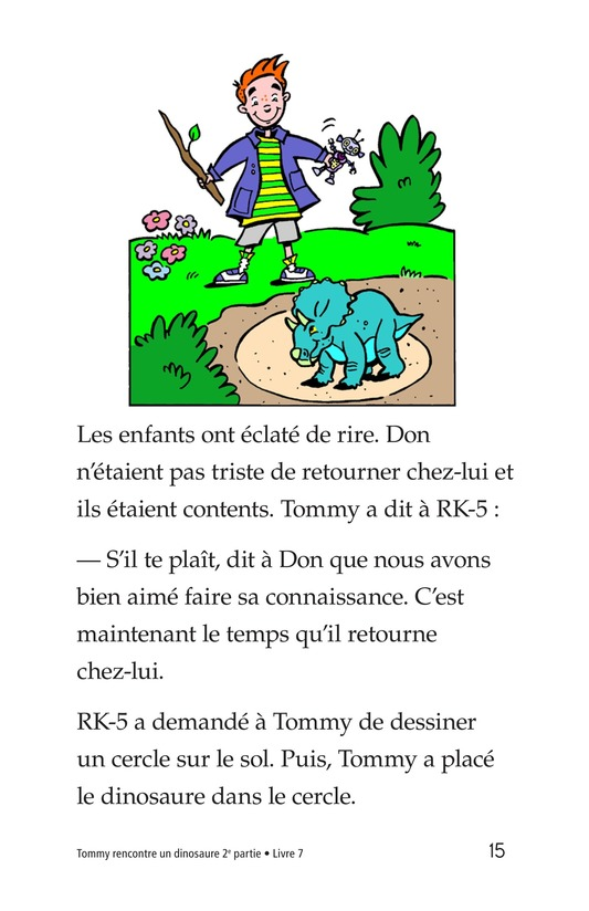 Book Preview For Tommy Meets A Dinosaur (Part 2) Page 15