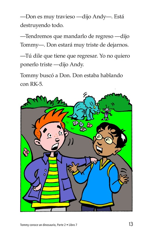 Book Preview For Tommy Meets A Dinosaur (Part 2) Page 13