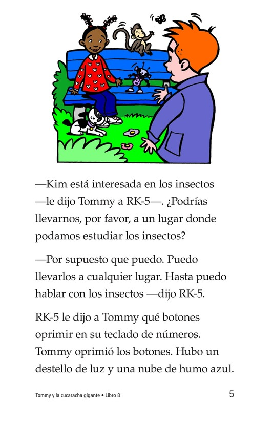 Book Preview For Tommy and the Giant Cockroach Page 5