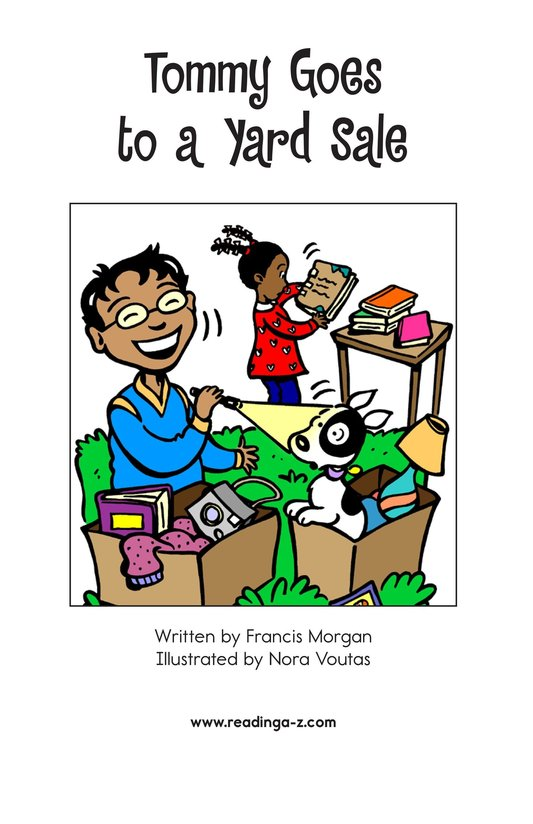 Book Preview For Tommy Goes to a Yard Sale Page 2