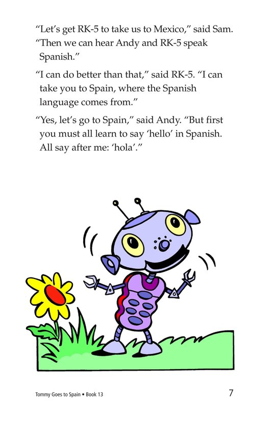 Book Preview For Tommy Goes to Spain Page 7