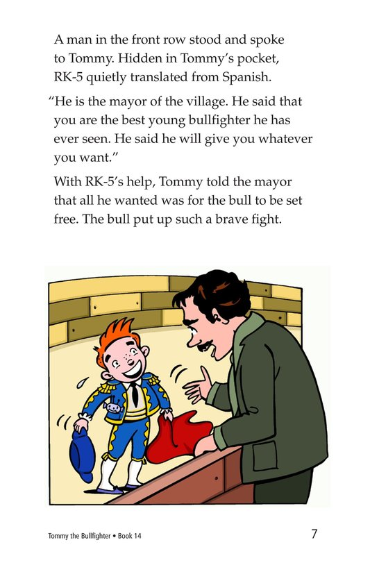 Book Preview For Tommy the Bullfighter Page 7