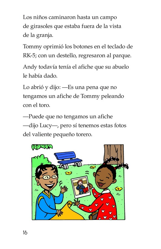 Book Preview For Tommy the Bullfighter Page 16