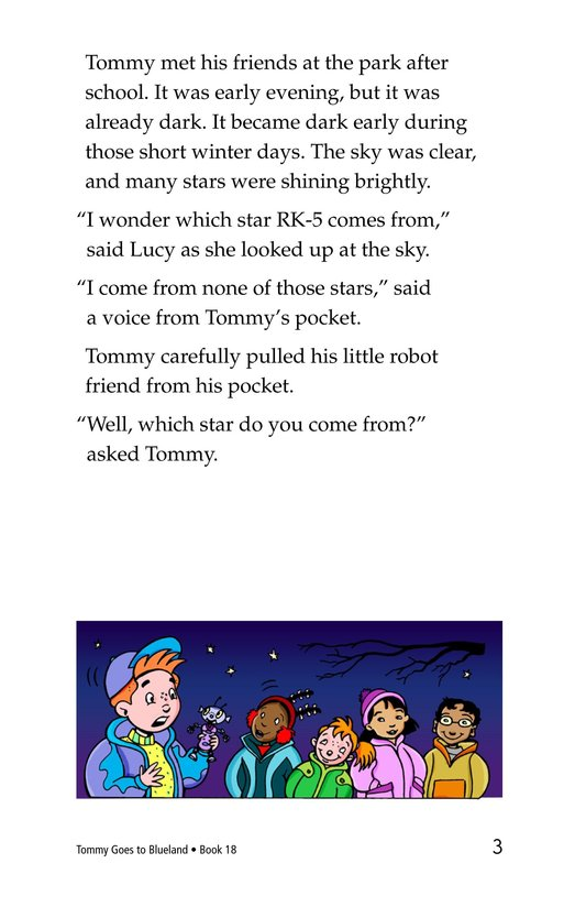 Book Preview For Tommy Goes To Blueland Page 3