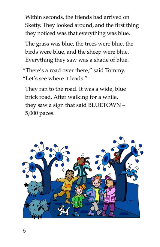 Book Preview For Tommy Goes To Blueland Page 6