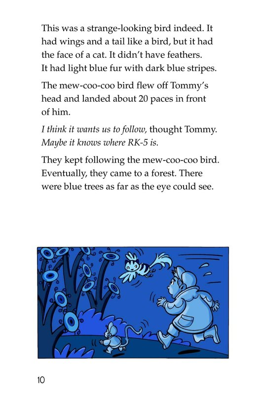 Book Preview For Tommy and the Mew-Coo-Coo Birds Page 10
