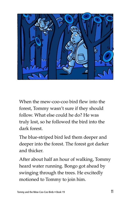 Book Preview For Tommy and the Mew-Coo-Coo Birds Page 11