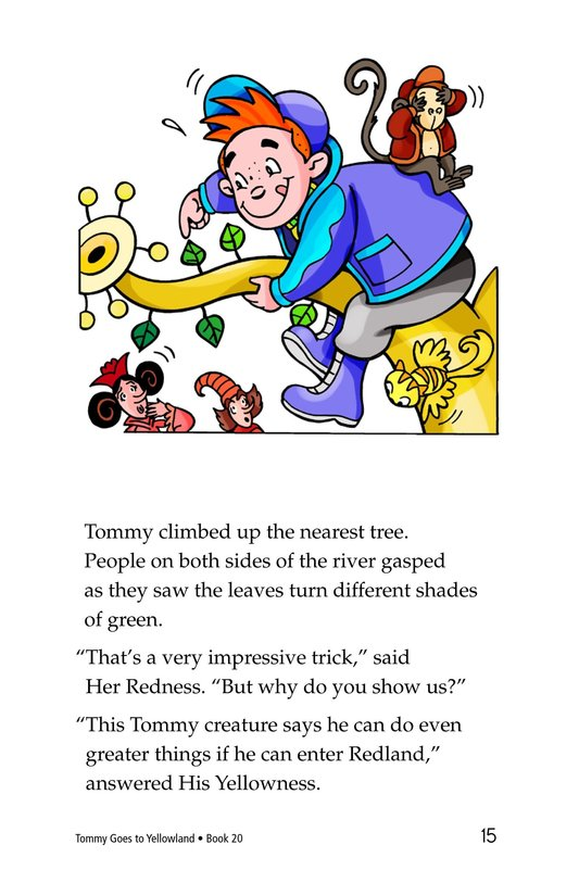 Book Preview For Tommy Goes to Yellowland Page 15