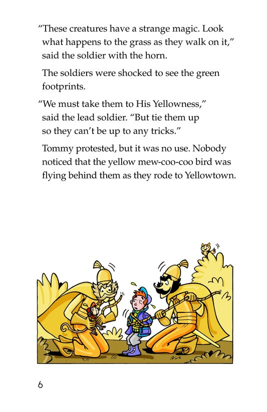 Book Preview For Tommy Goes to Yellowland Page 6