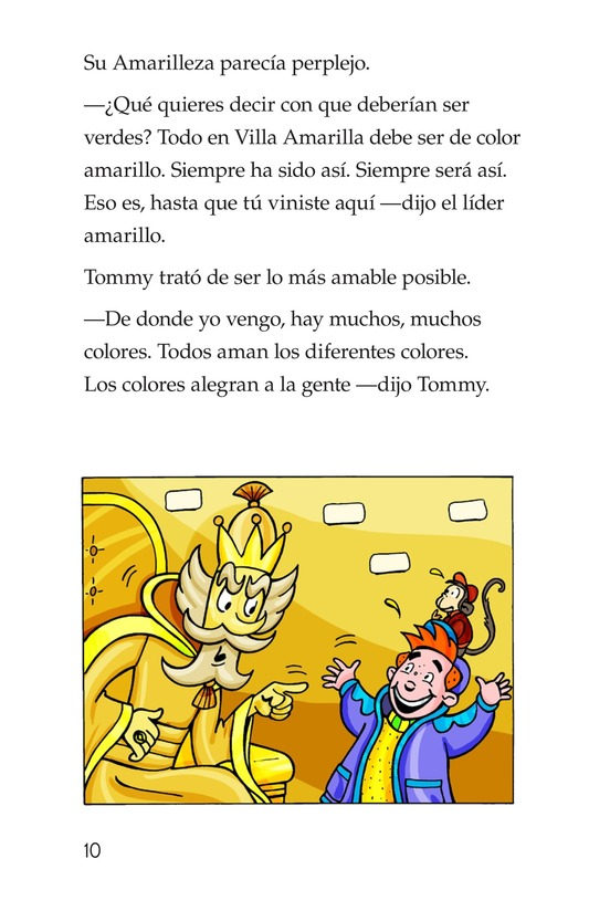 Book Preview For Tommy Goes to Yellowland Page 10